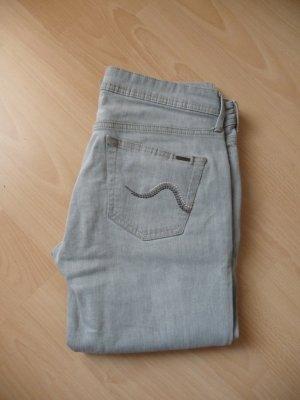 Mango Jeans grau Straight leg 40