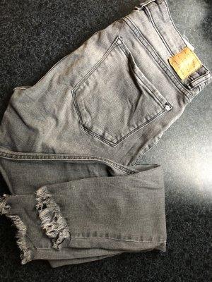 Mango 3/4 Length Jeans dark grey-white