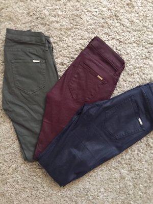 Mango Drainpipe Trousers multicolored