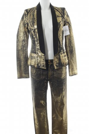 Mango Jeans Hosenanzug schwarz-goldfarben extravaganter Stil