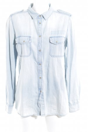 Mango Jeans Jeanshemd himmelblau Jeans-Optik