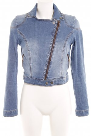 Mango Jeans Jeansjacke blau Washed-Optik