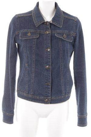 Mango Jeans Jeansjacke dunkelblau Casual-Look