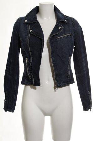 Mango Jeans Veste en jean bleu foncé Aspect de jeans