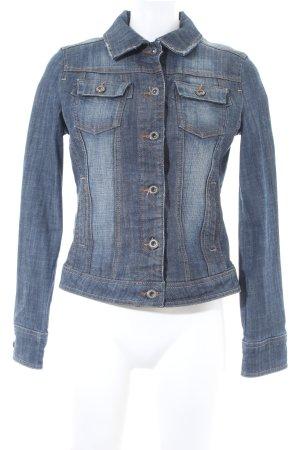 Mango Jeans Jeansjacke dunkelblau meliert Casual-Look