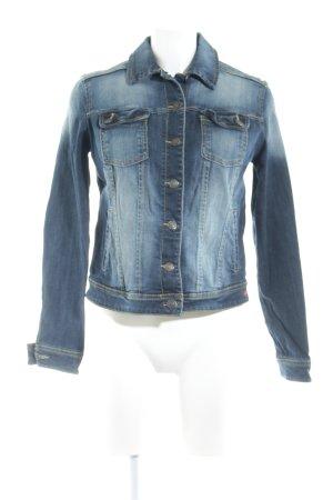 Mango Jeans Jeansjacke graublau Biker-Look