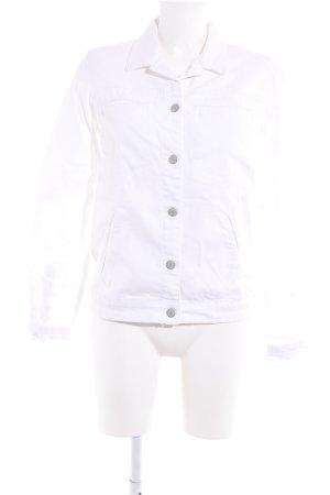 Mango Jeans Jeansjacke weiß Street-Fashion-Look