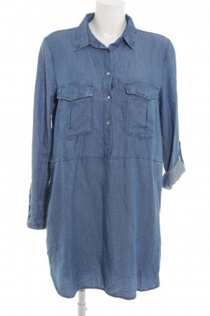 Mango Jeans Jeanskleid blau Boyfriend-Look
