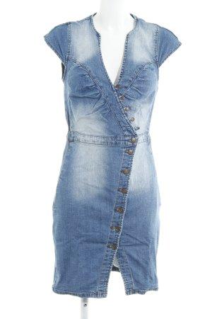 Mango Jeans Jeanskleid hellblau-dunkelblau Jeans-Optik