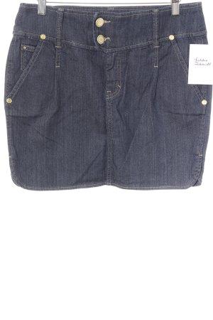 Mango Jeans Jeansrock dunkelblau Jeans-Optik