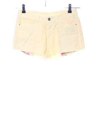 Mango Jeans Pantaloncino di jeans giallo pallido stile casual