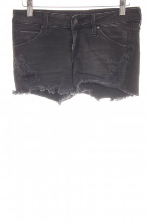 Mango Jeans Jeansshorts schwarz Destroy-Optik