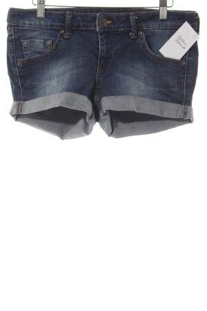 Mango Jeans Jeansshorts stahlblau-dunkelblau Beach-Look