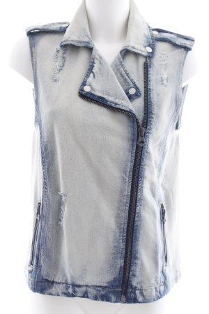 Mango Jeans Gilet en jean bleu pâle-gris ardoise style décontracté