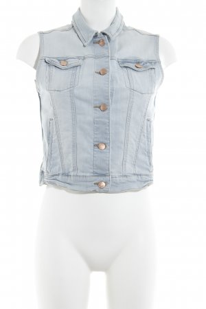 Mango Jeans Denim Vest azure Logo application (leather)