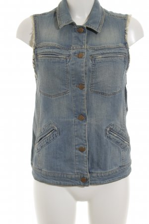 Mango Jeans Jeansweste kornblumenblau Casual-Look