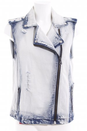 Mango Jeans Denim Vest multicolored washed look