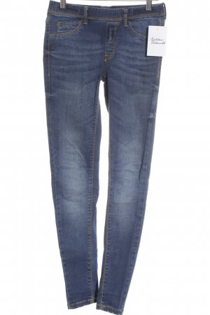 Mango Jeans Jeggings stahlblau Bleached-Optik