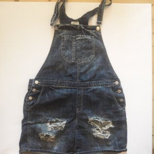 Mango Jeans latzhose jumpsuit Gr. 38 destroyed shorts