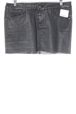 Mango Jeans Minifalda negro estilo fiesta