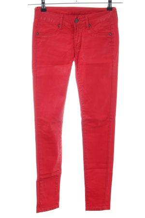 Mango Jeans Röhrenhose rot Casual-Look
