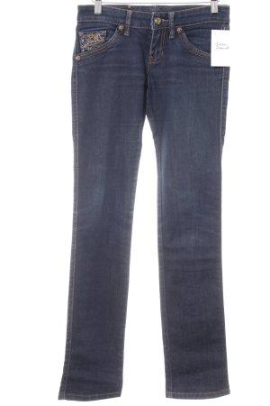 Mango Jeans Röhrenjeans dunkelblau Casual-Look