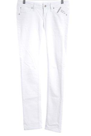 Mango Jeans Röhrenjeans weiß Street-Fashion-Look