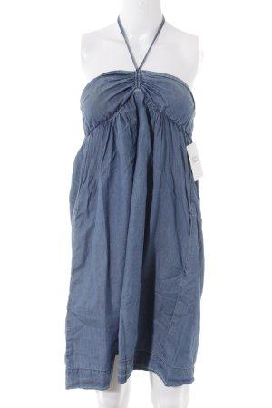 Mango Jeans schulterfreies Kleid blau Casual-Look