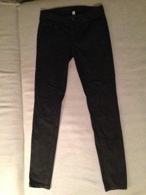 Mango Jeans schwarz beschichtet 38