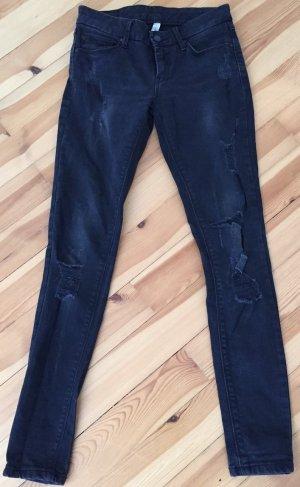 Mango Jeans schwarz used look Gr. 34