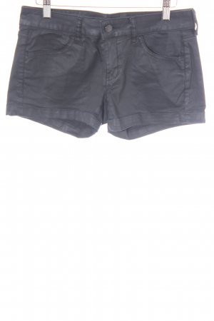 Mango Jeans Shorts schwarz Matt-Optik