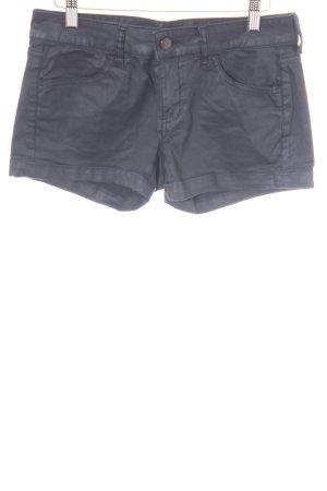 Mango Jeans Shorts schwarz Matt-Optik