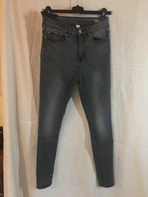 Mango Jeans Skinny High Waist Broadway grau 34 XS