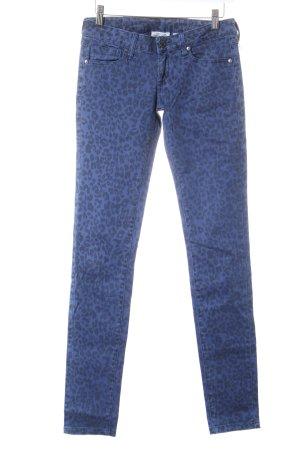 Mango Jeans Skinny Jeans dunkelblau-schwarz Leomuster Street-Fashion-Look