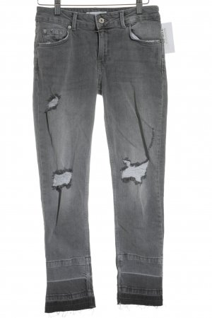 Mango Jeans Skinny Jeans grau Farbverlauf Street-Fashion-Look