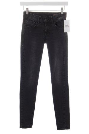 Mango Jeans Skinny Jeans schwarz Punktemuster Jeans-Optik