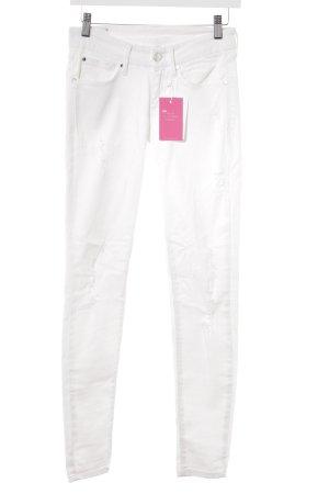 Mango Jeans Skinny Jeans weiß schlichter Stil