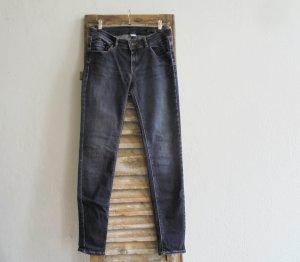 Mango Jeans Regenpijpbroek donkerblauw