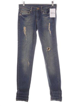 Mango Jeans Slim Jeans blau Destroy-Optik