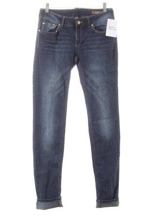 Mango Jeans Slim Jeans dunkelblau-stahlblau Street-Fashion-Look