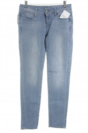 Mango Jeans Slim Jeans hellblau-wollweiß Washed-Optik