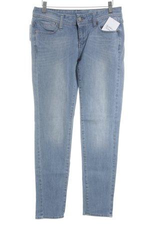 Mango Jeans Slim Jeans hellblau-wollweiß Washed-Optik