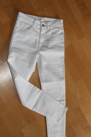 Mango Jeans skinny blanc tissu mixte