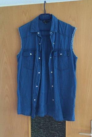Mango Jeans Weste gr. S Blogger blau