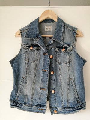 Mango Jeans Denim Vest multicolored mixture fibre