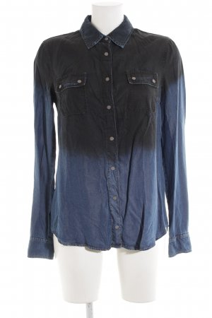 Mango Jeans blouse blauw casual uitstraling