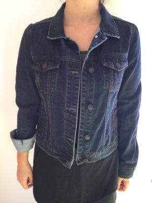 Mango Spijkerjack donkerblauw-zwart