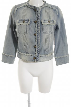 Mango Jeansjacke himmelblau-blau Street-Fashion-Look
