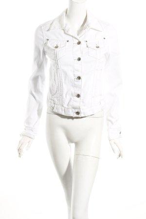Mango Jeansjacke weiß-beige Casual-Look