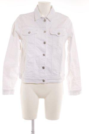 Mango Jeansjacke weiß-silberfarben Casual-Look